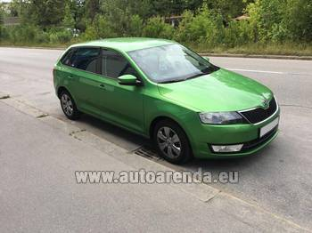 Аренда автомобиля ŠKODA Rapid Spaceback в Праге
